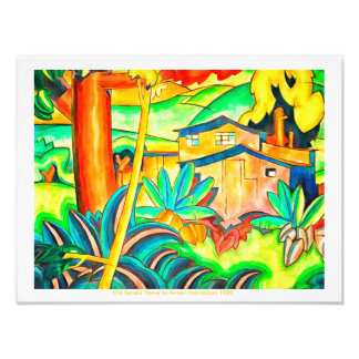 Tropical Paradise of Island Colors Vintage Art Photo Print