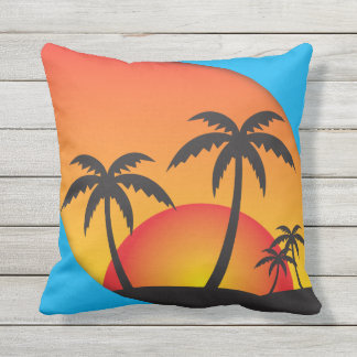 Tropical Paradise Outdoor Pillow