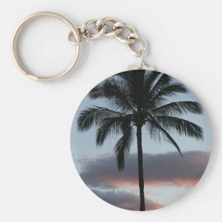 Tropical Paradise Palm Tree Basic Round Button Keychain