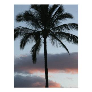 Tropical Paradise Palm Tree Letterhead
