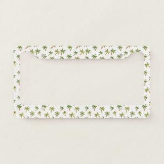 Tropical Paradise. Palm Trees. Licence Plate Frame