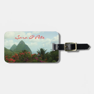 Tropical Paradise Personalize Wedding Luggage Tags