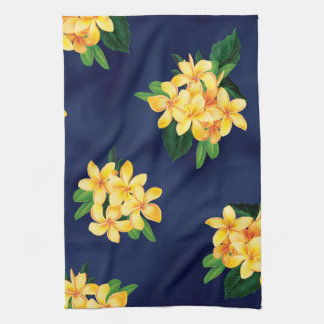 Tropical Paradise Plumeria Hawaiian Kitchen Towels