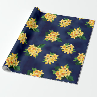Tropical Paradise Plumeria Hawaiian Wrapping Paper