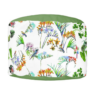 Tropical Paradise Poof Pouf