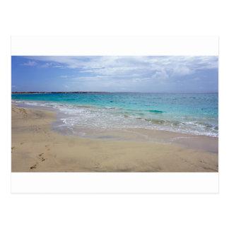 tropical paradise postcard
