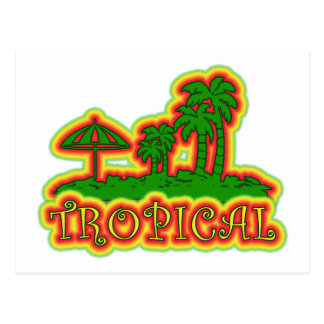Tropical Paradise Postcard