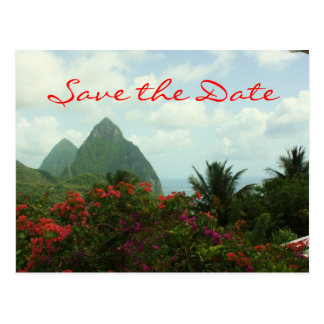 Tropical Paradise Save the Date Postcard