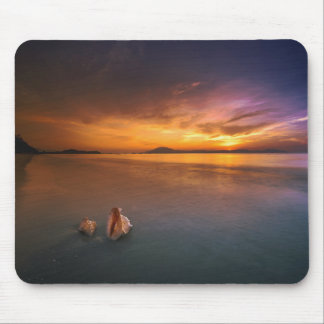Tropical Paradise Sunset Mouse Pad