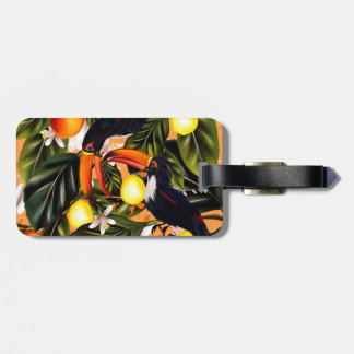 Tropical paradise. Toucans and citrus Luggage Tag