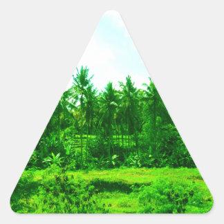 Tropical Paradise Triangle Sticker