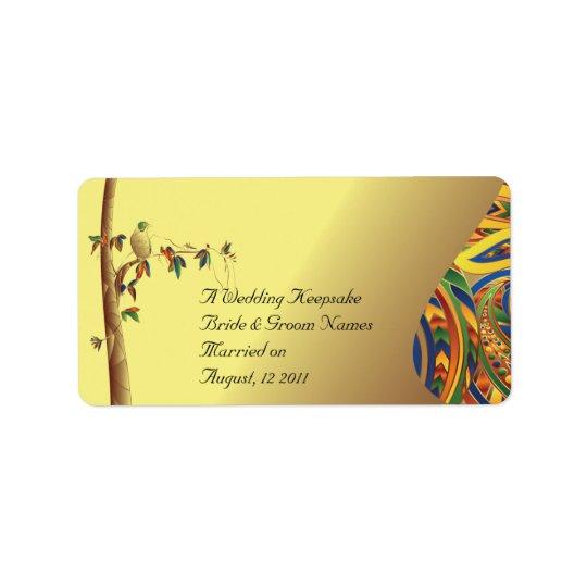 Tropical Paradise Wedding Favour Lip Balm Tube Label