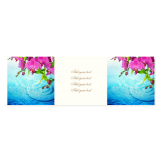 tropical paradise,zen,peace,orchid,blue water,yoga pack of skinny business cards