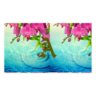 tropical paradise,zen,peace,orchid,blue water,yoga pack of standard business cards