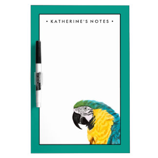 Tropical Parrot Bird Dry Erase Board
