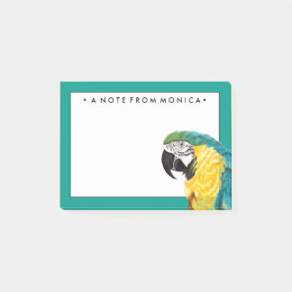 Tropical Parrot Bird Post-it Notes