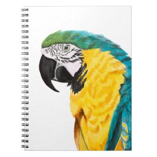 Tropical Parrot Bird Spiral Notebook