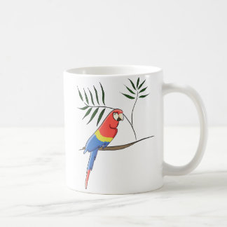 Tropical parrot coffee mug