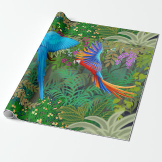 Tropical Parrot Jungle Wrapping Paper