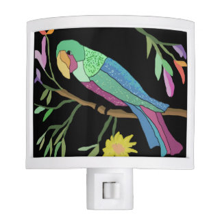 Tropical Parrot Night Lite