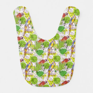Tropical Parrots Baby Bib