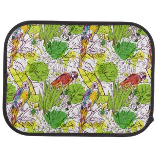 Tropical Parrots Car Floor Carpet