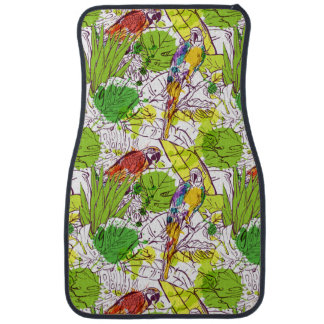 Tropical Parrots Car Mat