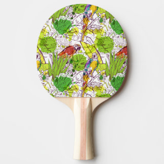 Tropical Parrots Ping-Pong Paddle
