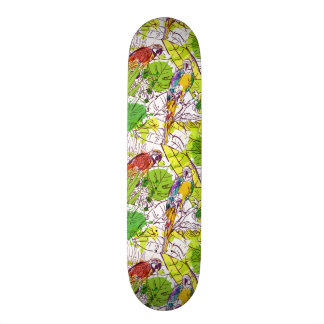 Tropical Parrots Skate Boards
