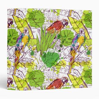 Tropical Parrots Vinyl Binder