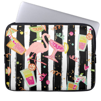 Tropical Party Fun Flamingo Laptop Sleeve