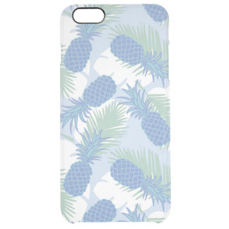 Tropical Pastel Pineapple Pattern Clear iPhone 6 Plus Case