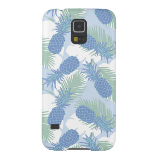 Tropical Pastel Pineapple Pattern Galaxy S5 Cases