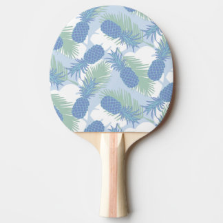 Tropical Pastel Pineapple Pattern Ping-Pong Paddle