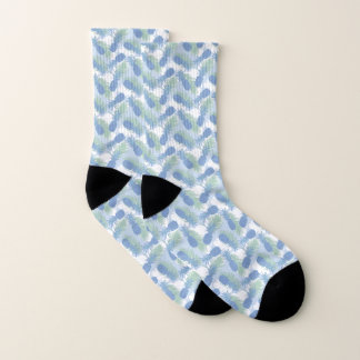 Tropical Pastel Pineapple Pattern Socks