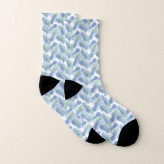 Tropical Pastel Pineapple Pattern Socks