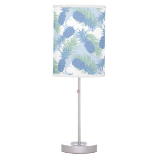 Tropical Pastel Pineapple Pattern Table Lamp