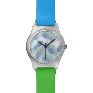 Tropical Pastel Pineapple Pattern Watches