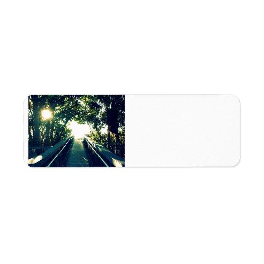 Tropical Path Return Address Label