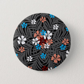TROPICAL PATTERN 2 INCH ROUND BUTTON