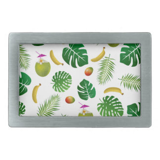 Tropical pattern belt buckles
