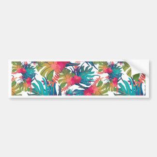 Tropical Pattern Bumper Sticker