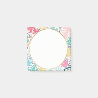 Tropical Pattern Colourful Post It Notes