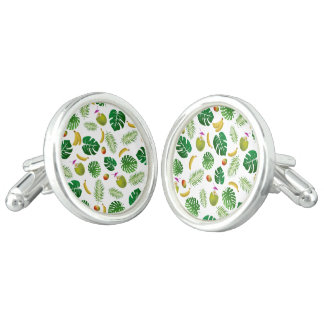 Tropical pattern cufflinks