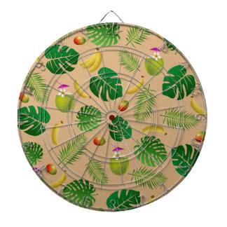 Tropical pattern dart boards