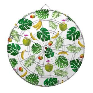 Tropical pattern dartboard