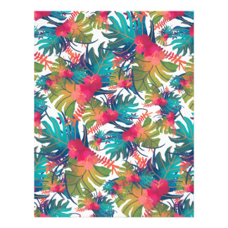 Tropical Pattern Letterhead