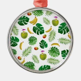 Tropical pattern metal ornament