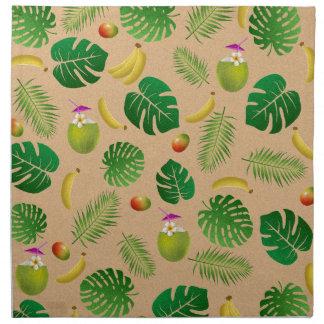 Tropical pattern napkin