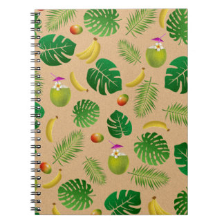 Tropical pattern notebooks